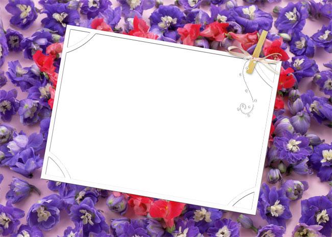 Рамки для фотографий цветы