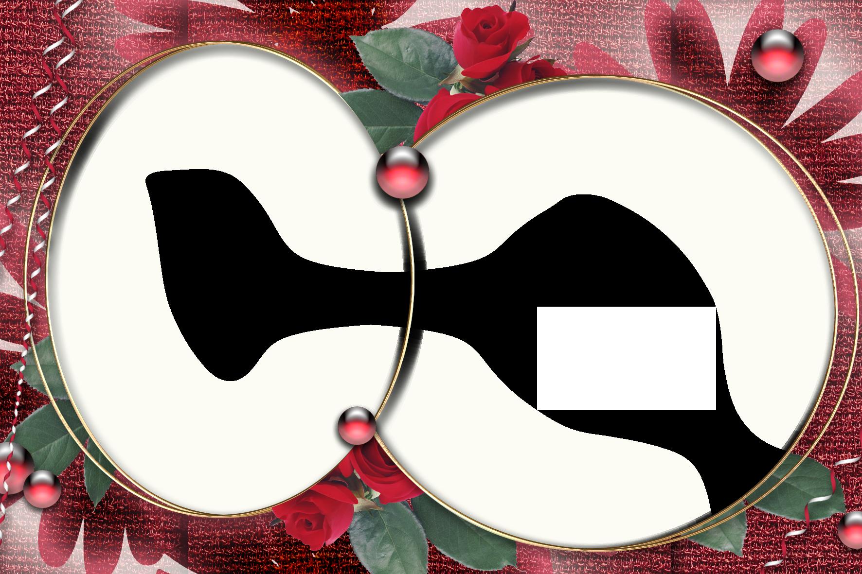 Праздничная фоторамочка с розами на